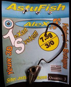 """Tying Astufish Tête plombée """"Alex"""" 7,5g"""