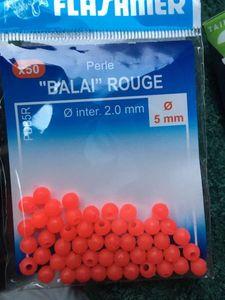 """Tying Flashmer Perle """"Balai"""" Rouge 5mm"""