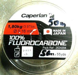Lines Caperlan Fluorocarbone 100%, 16/100, 1.8 kg, 50 m, (truite), 4.40 €