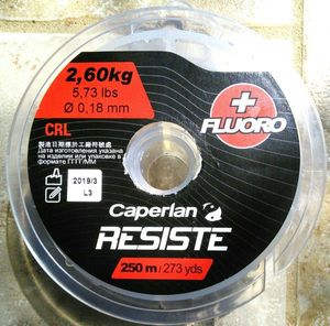 Lines Caperlan Line Résiste Cristal, +fluoro, 18/100, 2.6 kg, 250 m, (truite),  3.90 €