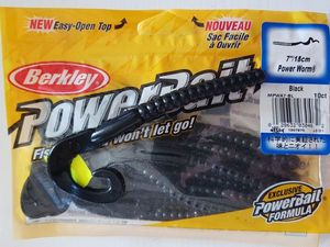 "Lures Berkley Power Worm 7""/18cm-Black"