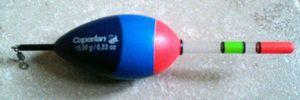 Tying Caperlan Flotteur lumineux coulissant 15 gr, (bâtonnets 2.9 x 50 mm (CFL4)).