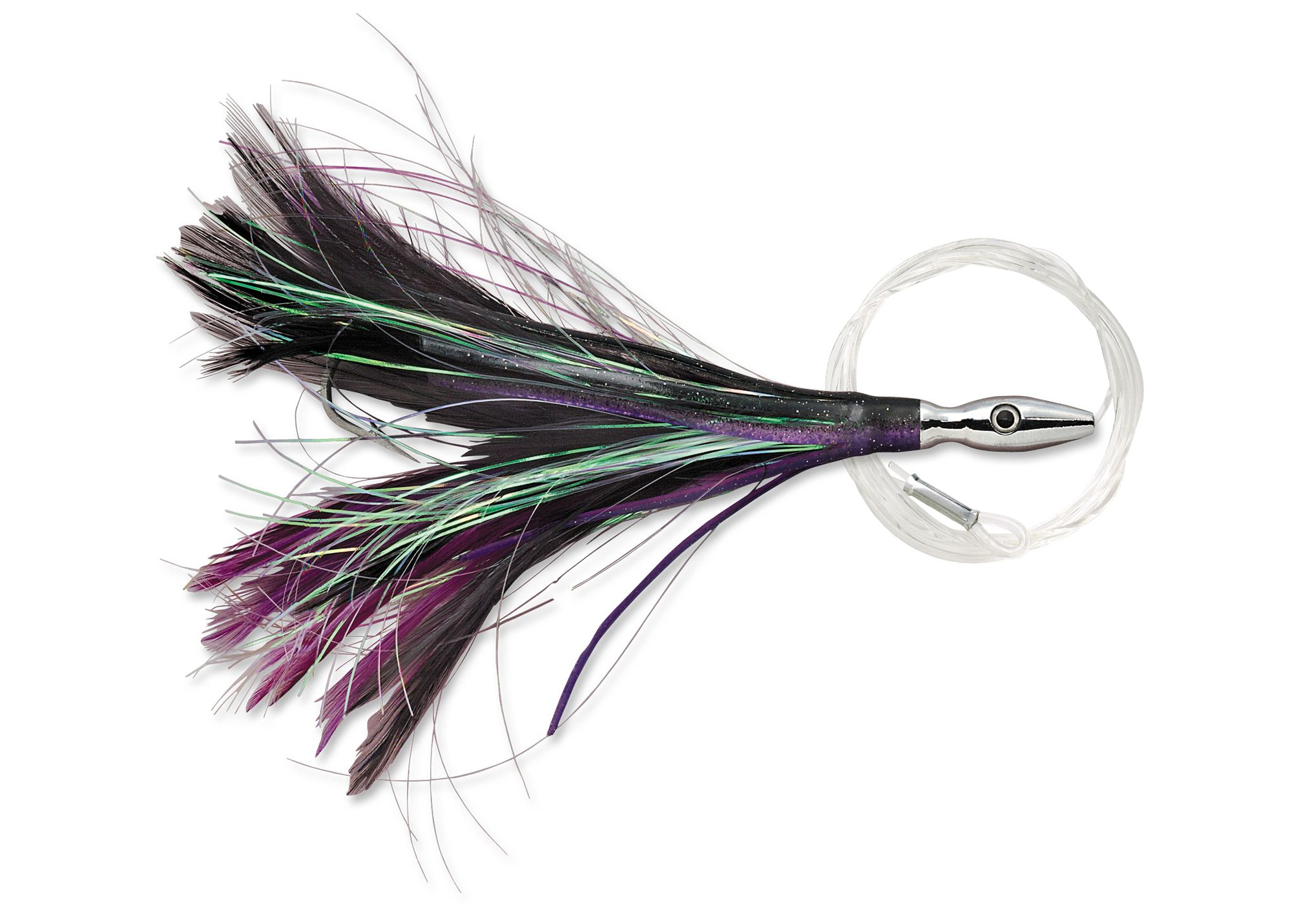 Leurres Williamson FLASH FEATHER RIGGED FFR04 BLACK/PURPLE