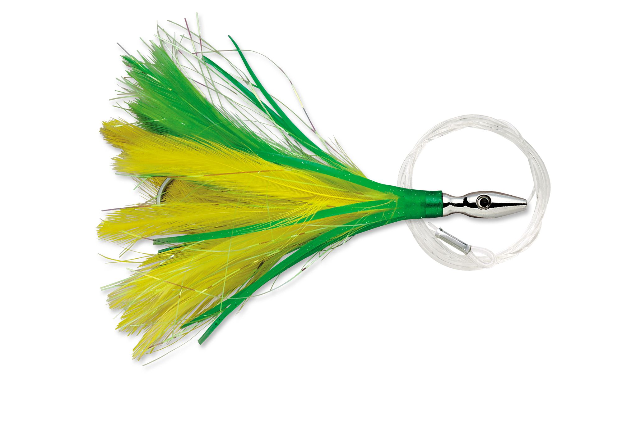 Leurres Williamson FLASH FEATHER RIGGED FFR03 YELLOW GREEN