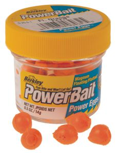 Lures Berkley POWERBAIT SPARKLE POWER EGGS / DOUGH EGGS FLUO ORANGE