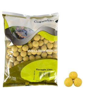 Baits & Additives Caperlan WELLMIX BOILIES PINEAPPLE 1KG
