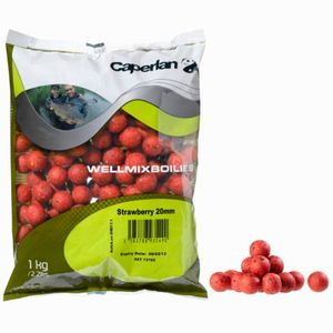 Baits & Additives Caperlan BOUILLETTES WELLMIX 1KG STRAWBERRY