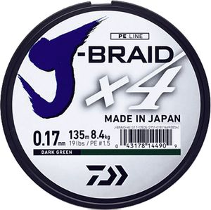 J BRAID X 4 15/100 270 M VERT