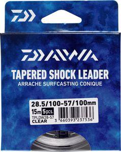 Leaders Daiwa ARRACHÉ SURF TAPER LEADER 15M X 5 0,18 / 0,57 TRANSLUCIDE 15M