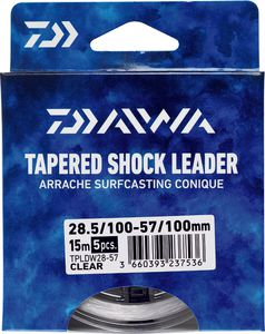 Leaders Daiwa ARRACHÉ SURF TAPER LEADER 15M X 5 0,28 / 0,57 TRANSLUCIDE 15M