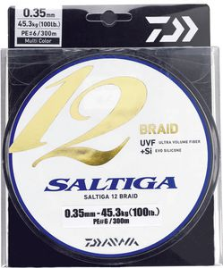 Lines Daiwa SALTIGA 12 BRAID 35/100 600 M MULTICOLORE
