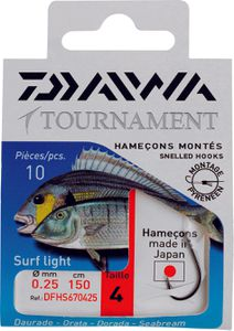 Hooks Daiwa HAMEÇONS MONTÉS SURF LIGHT N° 4 DFHS670425