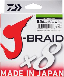 J BRAID X 8 06/100 150 M CHARTREUSE