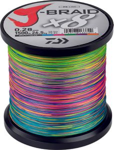 J BRAID X 8 28/100 1500 M MULTICOLORE