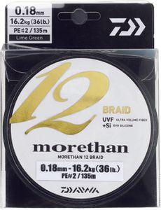 Lines Daiwa MORETHAN 12 BRAID 12/100 135 M CHARTREUSE