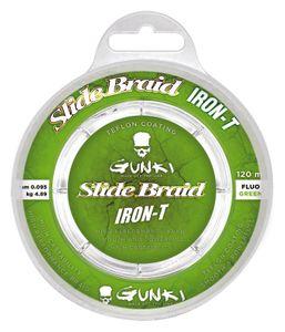 Lines Gunki SLIDE BRAID IRON-T 120 FLUO GREEN 0,095