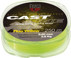 Lines Pezon & Michel NYLON CAST LINE FLUO YELLOW 0,35