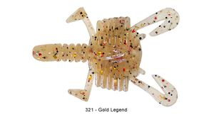 "Lures Reins SMALL CRAB 2"" 321 - GOLD LEGEND"