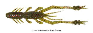 "Lures Reins RING SHRIMP 5"" 025 - WATERMELON RED FLAKE"