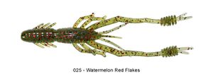 "Lures Reins RING SHRIMP 4"" 025 - WATERMELON RED FLAKE"