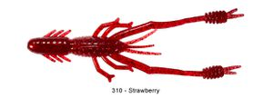 "Lures Reins RING SHRIMP 4"" 310 - STRAWBERRY"