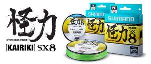 Lines Shimano KAIRIKI SX8 PE 0.280MM / 2700M / VERT FLUO