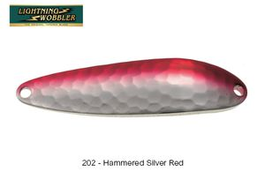 Leurres Tiemco LIGHTNING WOBBLER 7 G 202 - HAMMERED SILVER RED