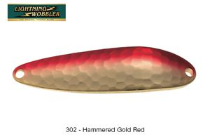 Lures Tiemco LIGHTNING WOBBLER 10 G 302 - HAMMERED GOLD RED